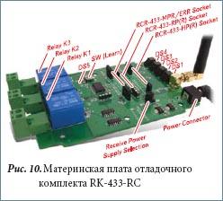 Материнская плата отладочного комплекта RK-433-RC