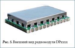 Внешний вид радиомодуля DPxxxx