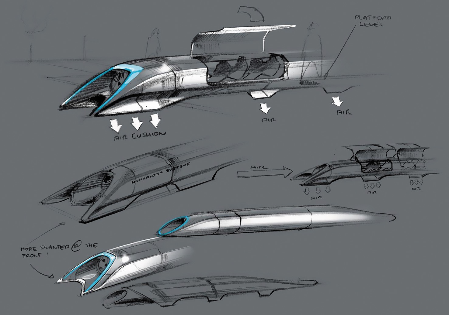 Визуализация проекта Hyperloop