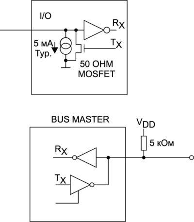 Эквивалентная схема электронного ключа на базе DS1990