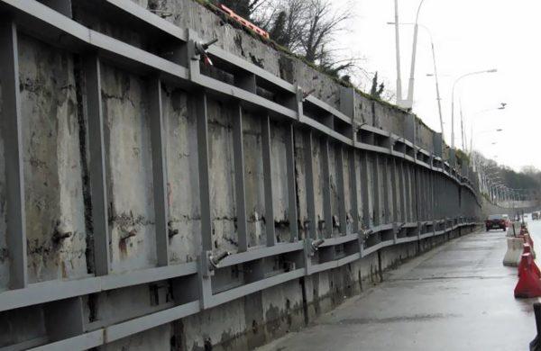 Противооползневые сооружения, смонтированные на трассе Джубга — Сочи