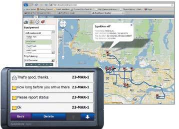 Интерфейс навигатора Garmin Nuvi 205 с поддержкой GFMI