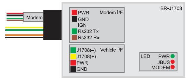 Контакты внешнего интерфейса TempX J1939