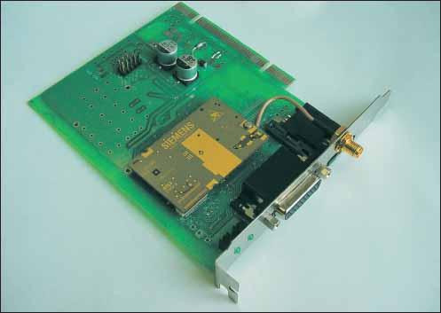 Внешний вид GSM/GPRS модема МТ-04-01 с модулем Siemens TC45-Java