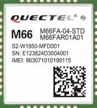 GSM/GPRS-модуль M66 (вид сверху)