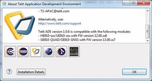 Соответствие версии ADE прошивке модуля