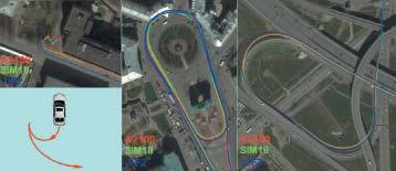 Треки при движении автомобиля по городу (чипсет SiRFIV)