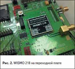 WISMO 218 на переходной плате