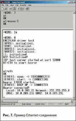 Пример Ethernet-соединения