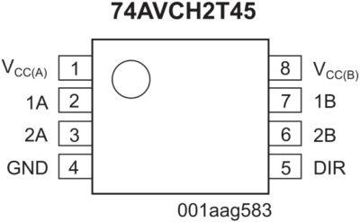 Преобразователь уровней NXP 74AVCH2T45