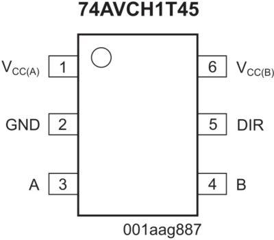 Преобразователь уровней NXP 74AVCH1T45