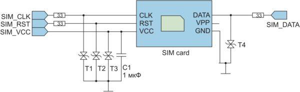 Схема подключения SIM-считывателя и GSM-модуля М660