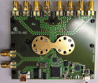 Внешний вид отладочной платы Infineon BGT80e evaluation board