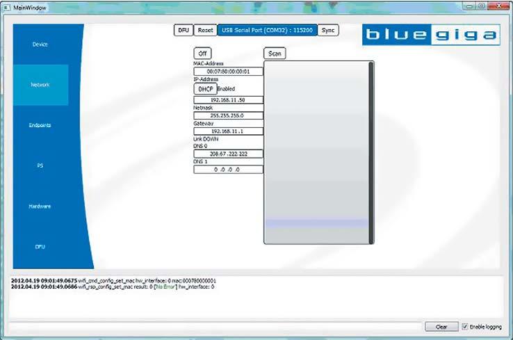 Программа Wi-Fi GUI. Установка МАС-адреса