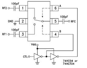 Типовая схема включения переключателя «прием — передача»