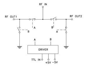 Схема коммутации переключателя M3SW-2-50DR(+)