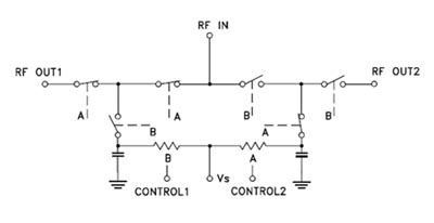 Схема коммутации переключателя RSW-2-25P(+)