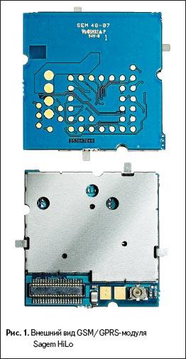 Внешний вид GSM/GPrS-модуля Sagem HiLo