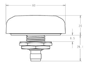 Габаритные и присоединительные размеры антенны WS3977