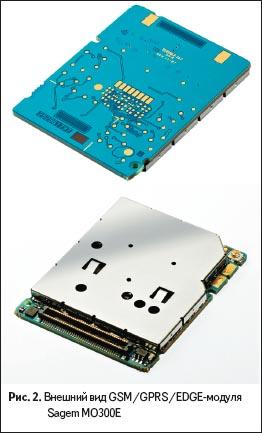 Внешний вид GSM/GPRS/EDGE-модуля Sagem MO300E