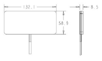 Габаритные и присоединительные размеры антенны WS3947