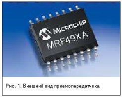 полнофункциональный субгигагерцевый трансивер MRF49XA