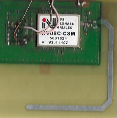 Фото навигационного модуля NV08C-CSM с микрополосковой антенной
