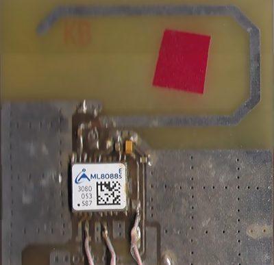 Фото навигационного модуля ML8088s с микрополосковой антенной