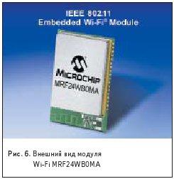 Внешний вид модуля Wi-Fi MRF24WB0MA