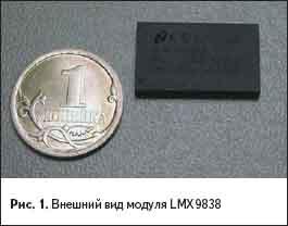 Внешний вид модуля LMX9838