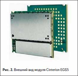 Внешний вид GSM модуля Cinterion EGS5