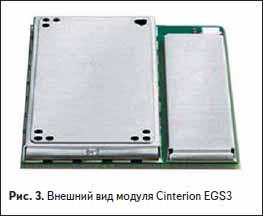Внешний вид GSM модуля Cinterion EGS3