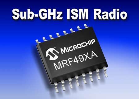 Приемопередатчик ISM диапазона MRF49XA