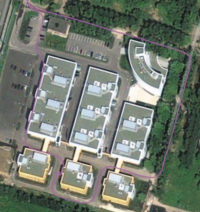 Фрагмент трека GNSS-приемника NEO-M8N