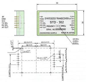 Габаритные и присоединительные размеры модуля STD-302