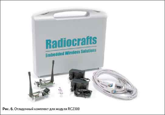 Отладочный комплект для модуля RC2300