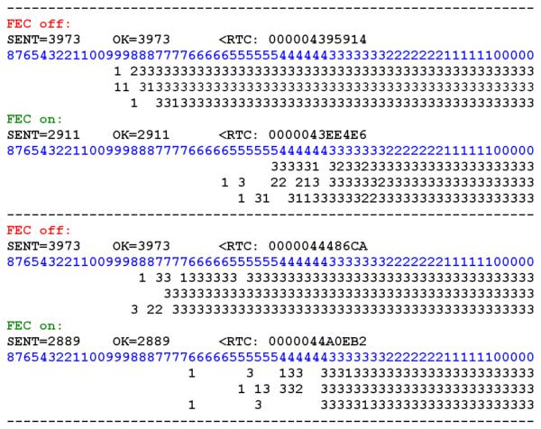 Пример записей в журнале о двух последовательных измерениях