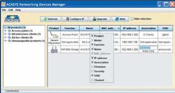 Главное окно программы ACKSYS Networking Devices Manager