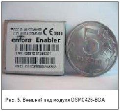 Внешний вид модуля GSM0426-BGA