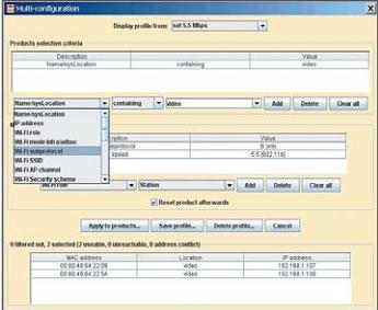 Окно контроля параметров отдельного устройства в программе ACKSYS Networking Devices Manager