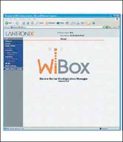 Домашняя страница Lantronix Web Manager