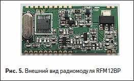 Внешний вид радиомодуля RFM12BP производства Hope RF