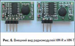 Внешний вид радиомодулей HM-R и HM-T производства Hope RF