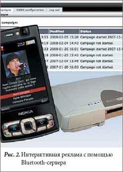 Интерактивная реклама с помощью Bluetooth-сервера