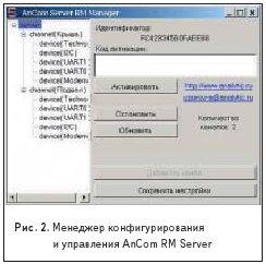 Менеджер конфигурированияи управления AnCom RM Server