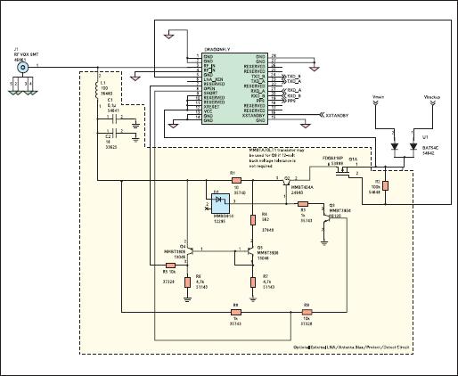 Схема включения с контролем состояния антенны