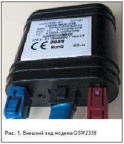 Внешний вид модема GSM2338