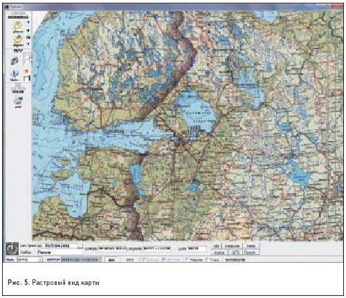 Растровый вид карты Геоскоп