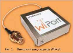 Внешний вид сервера WiPort