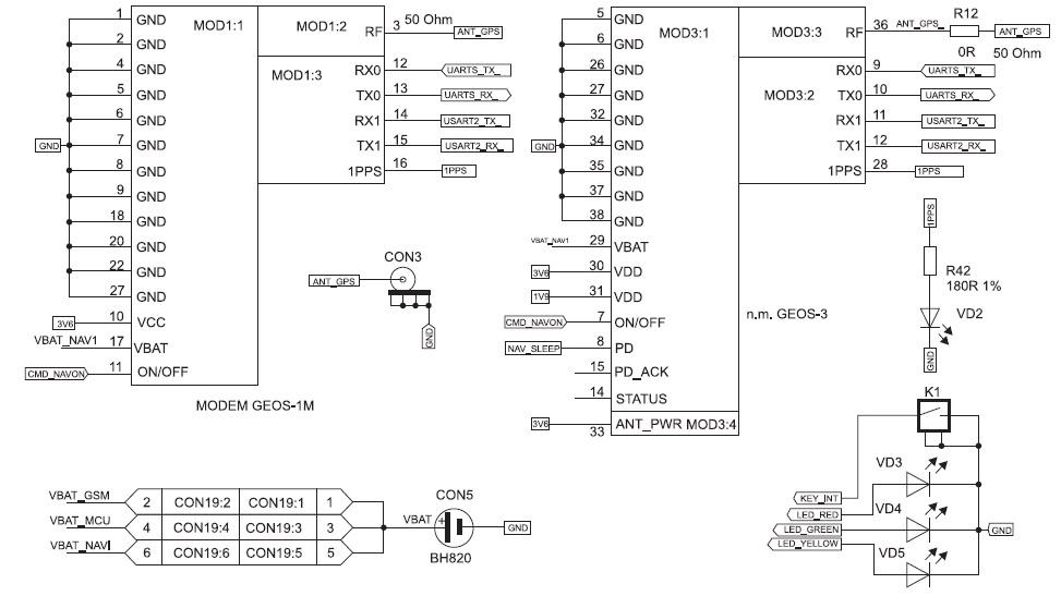 ГЛОНАСС/GPS-модуль «ГеоС-1М»